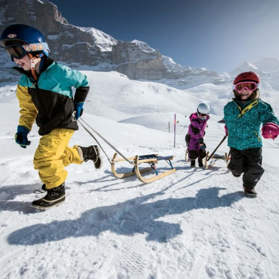 Winterlaken Card - Eiger Run Sledging
